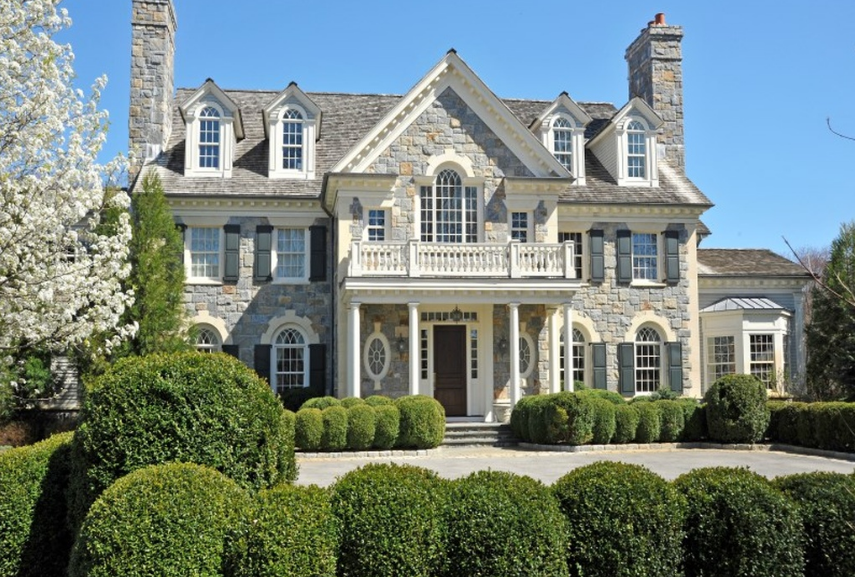10,000 Square Foot Georigan Stone Mansion In Greenwich, CT