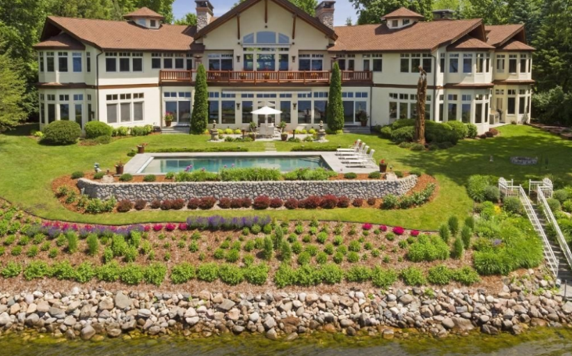 13,000 Square Foot Lakefront Mansion In Wayzata, MN