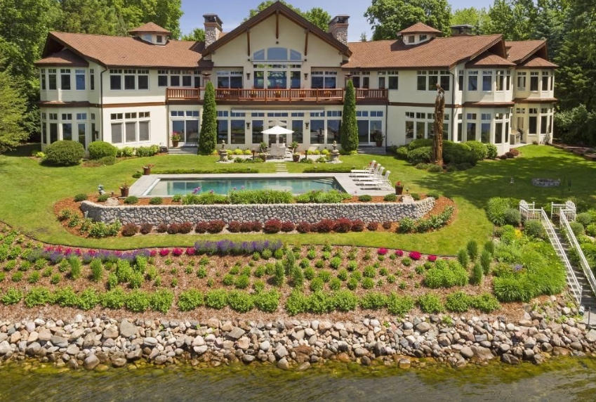 13,000 Square Foot Lakefront Mansion In Wayzata, MN