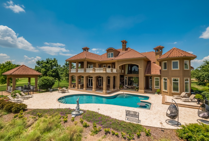 10,000 Square Foot Mediterranean Golf Course Mansion In Ringgold, GA
