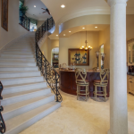 Staircase & Wet Bar