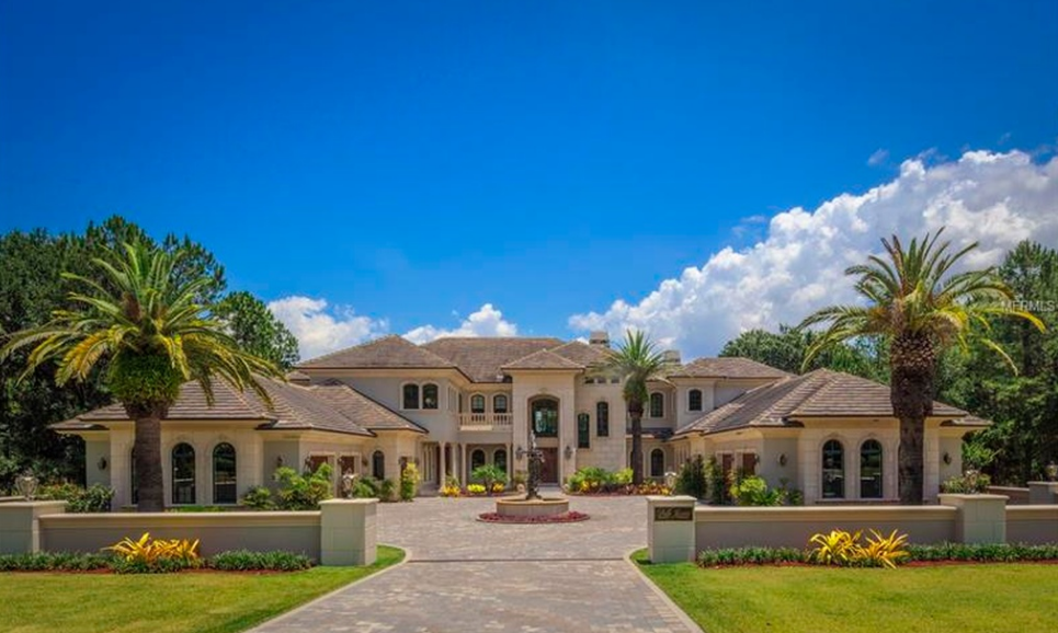 $11 Million Mediterranean Lakefront Mansion In Montverde, FL