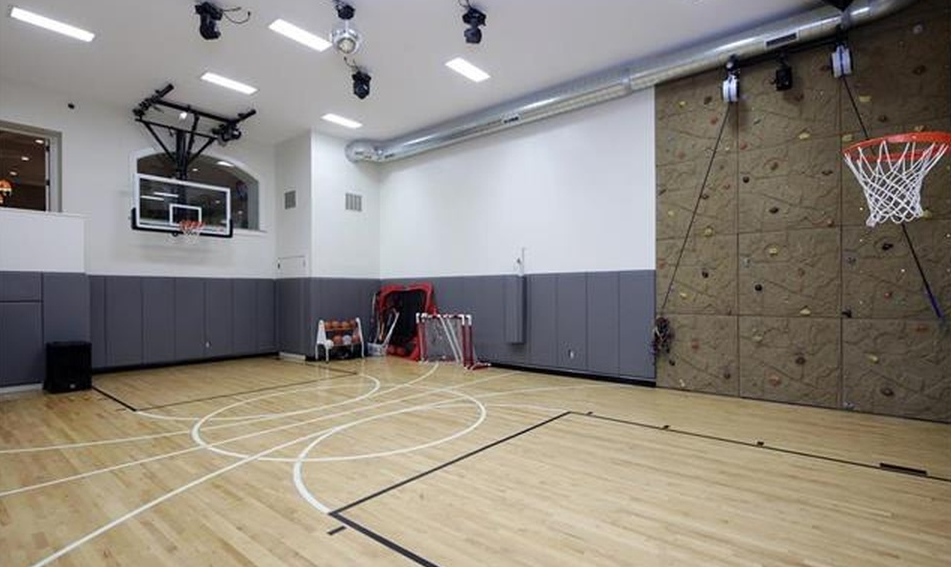 16 000 square foot limestone mansion in saint louis mo for How many square feet is a basketball court