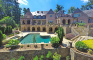 11,000 Square Foot Brick & Stone Lakefront Mansion In Suwanee, GA
