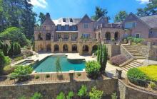 11,000 Square Foot Brick & Stone Lakefront Mansion In Suwanee, GA