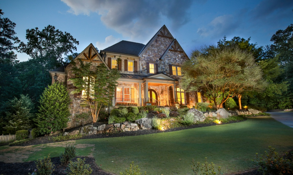 11,000 Square Foot Brick & Stone Mansion In Alpharetta, GA