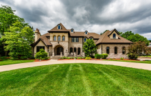 12,000 Square Foot Brick & Stone Mansion In Oak Brook, IL