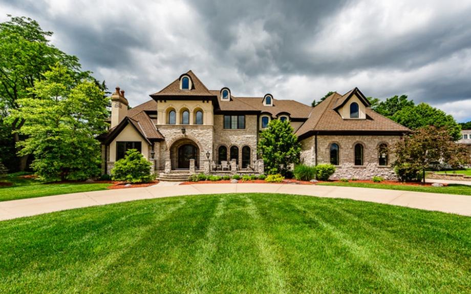 12,000 Square Foot Brick & Stone Mansion In Oak Brook, IL