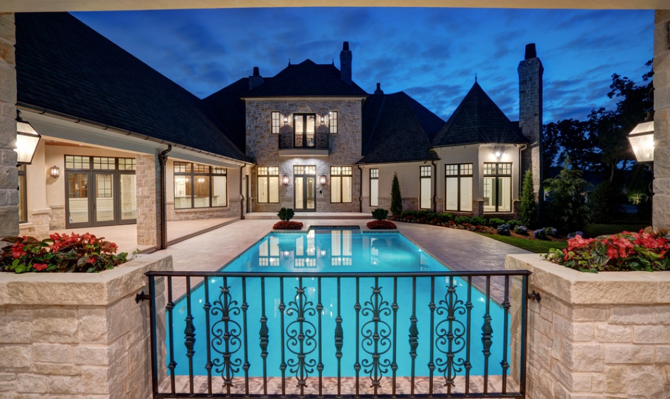 10 000 Square Foot Newly Built French Inspired Mansion In Edmond Ok Homes Of The Rich The