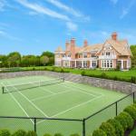 Rear Exterior w/ Tennis Court