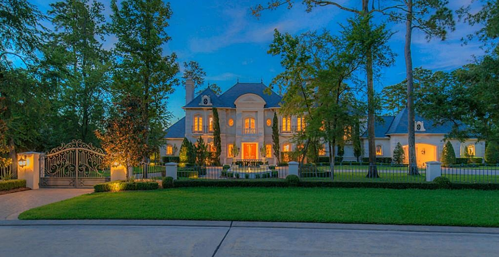 $5 Million French Inspired Stone & Stucco Mansion In Spring, TX
