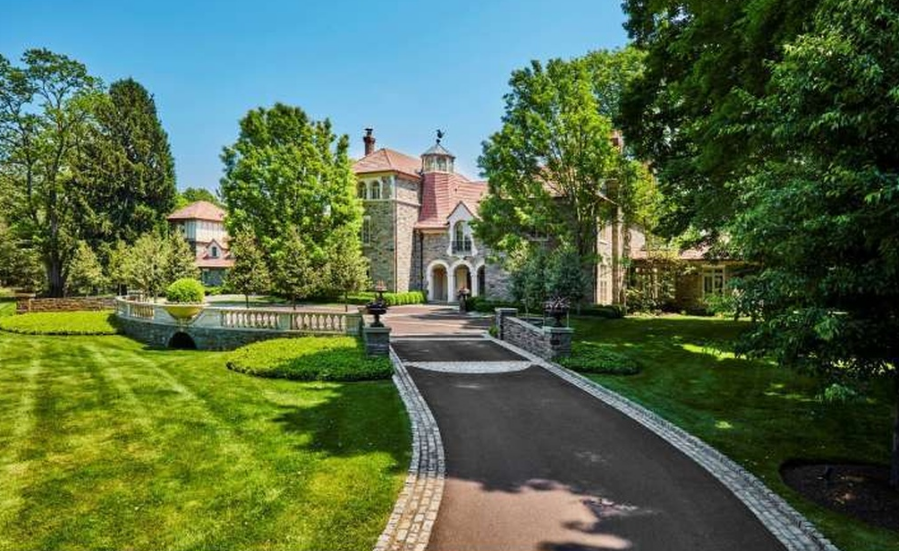 $17.5 Million Stone Mansion In Villanova, PA