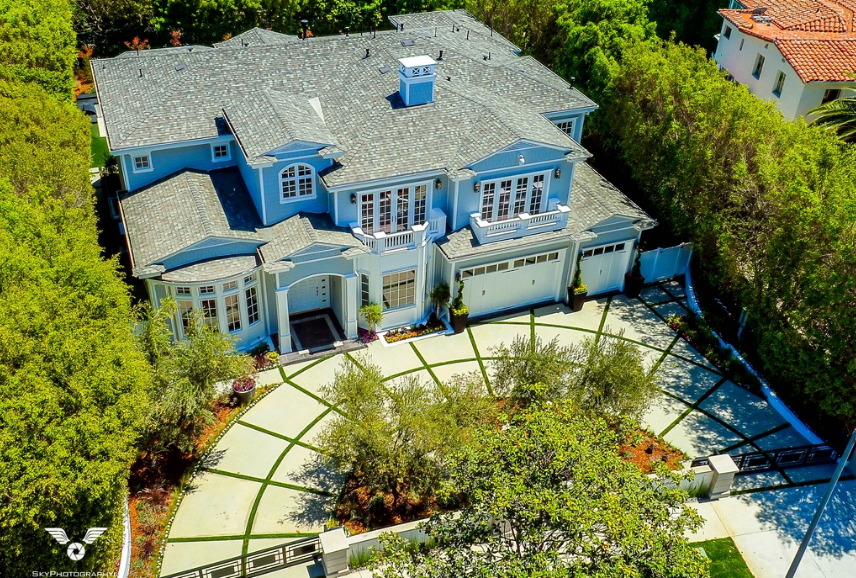 $11.9 Million Newly Built Traditional Mansion In Pacific Palisades, CA