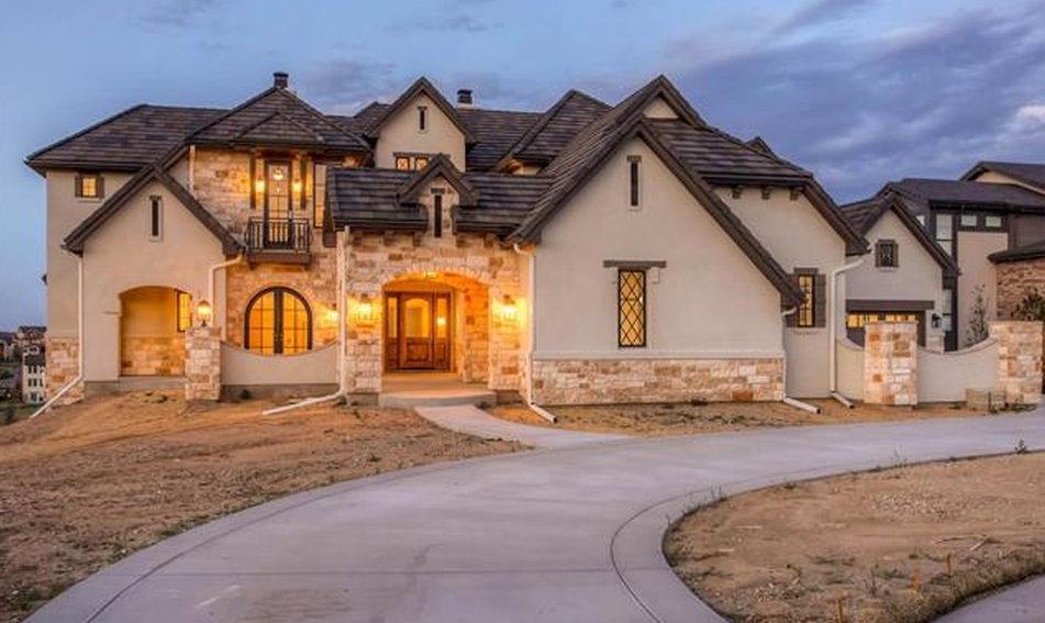 $2 Million Newly Built Stone & Stucco Home In Highlands Ranch, CO