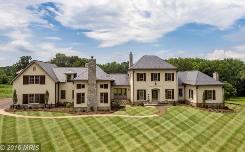 $2.8 Million Newly Built Brick & Stone Home In Leesburg, VA