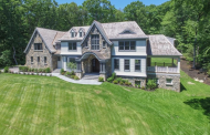 $4.495 Million Newly Built Shingle & Stone Mansion In Weston, MA