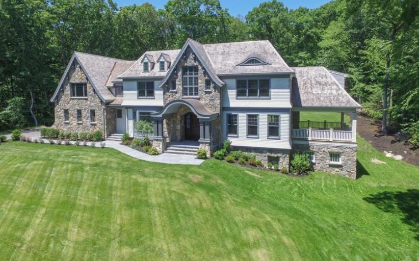 $4.495 Million Newly Built Shingle & Stone Mansion In Weston, MA
