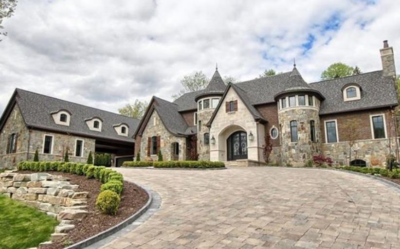 $2.699 Million Newly Built Brick & Stone Home In Bloomfield Hills, MI