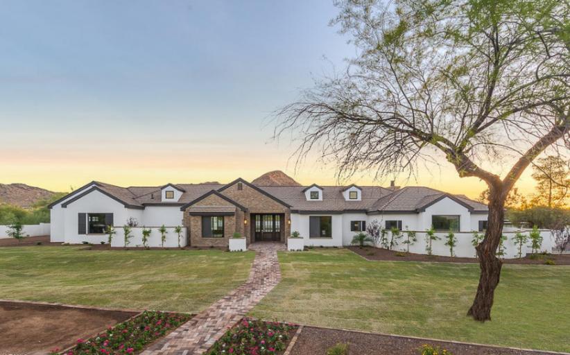 $3.325 Million Newly Built Stucco & Brick Home In Paradise Valley, AZ