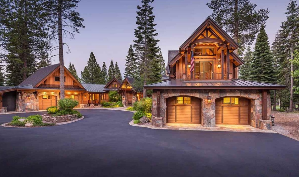 $9.495 Million Wood & Stone Home In Truckee, CA