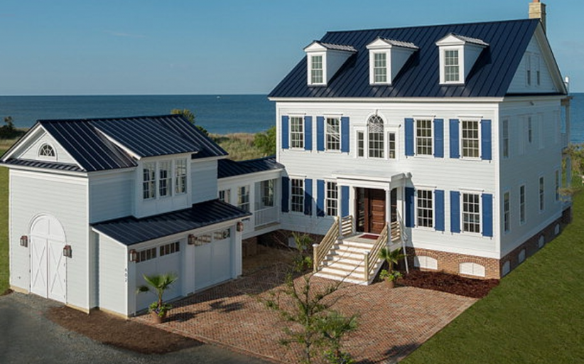 $2.1 Million Newly Built Waterfront Colonial Home In Cape Charles, VA