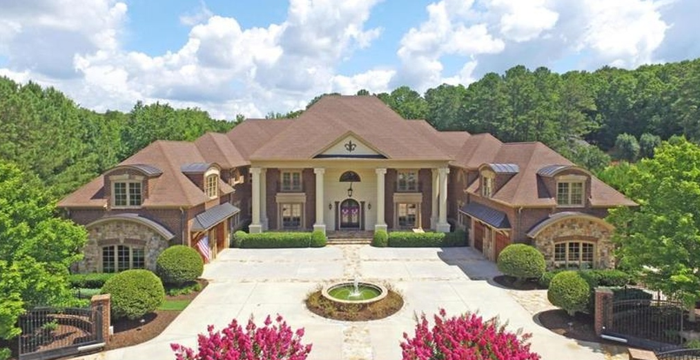 17,000 Square Foot Brick Mansion In Alpharetta, GA