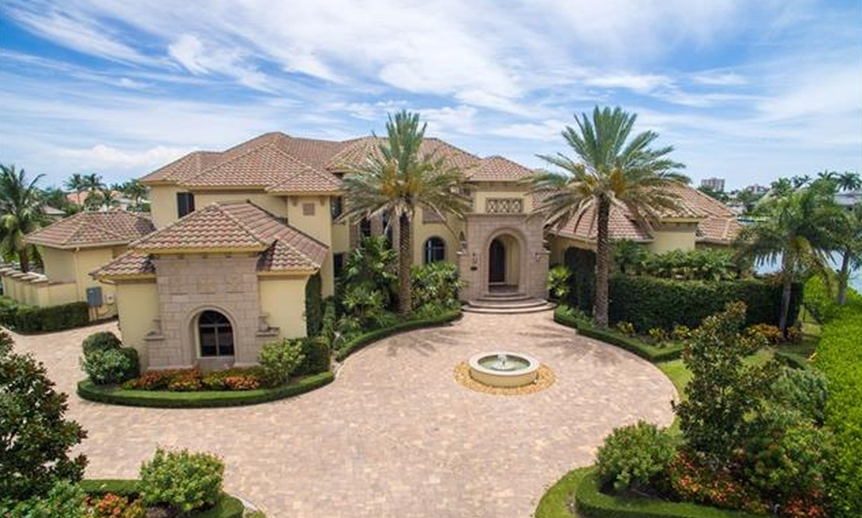 $4.2 Million Mediterranean Waterfront Home In Marco Island, FL