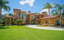 $3.89 Million Mediterranean Lakefront Home In Windermere, FL