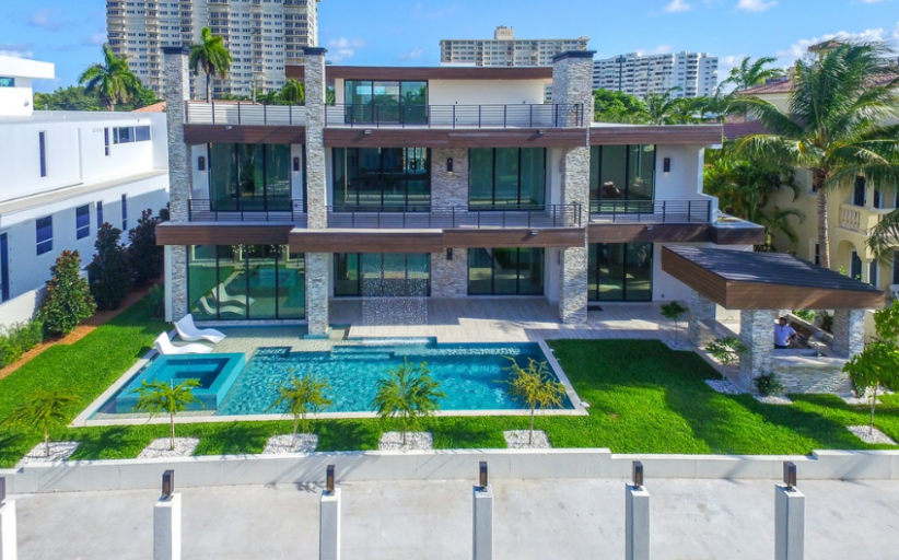 12,000 Square Foot Newly Built Modern Waterfront Mansion In Fort Lauderdale, FL