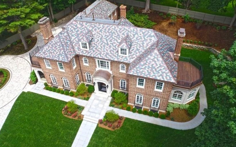 11,000 Square Foot Georgian Brick Mansion In Brookline, MA