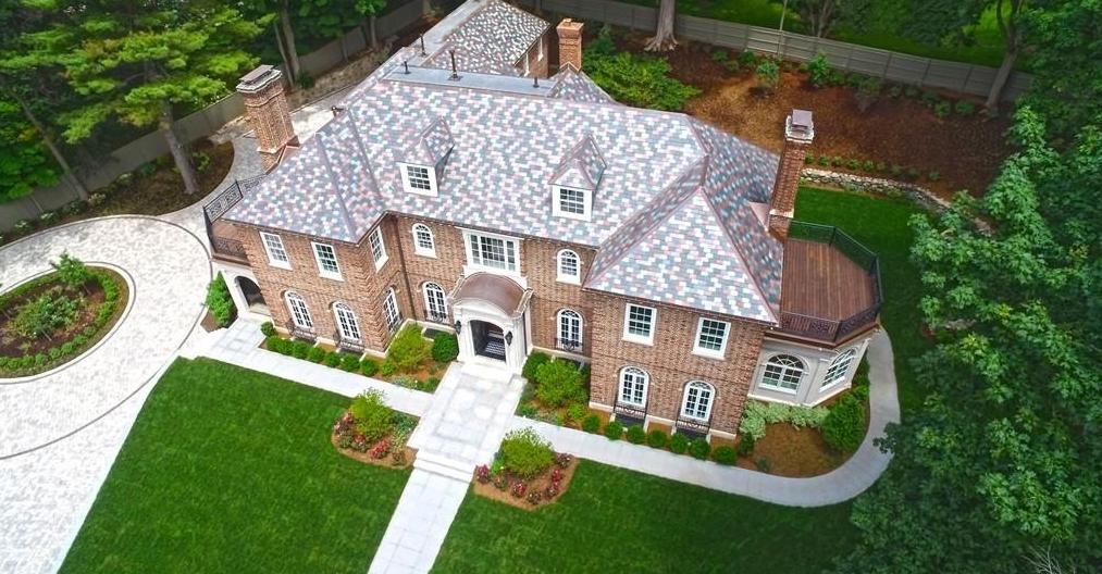 11,000 Square Foot Georgian Brick Mansion In Brookline, MA