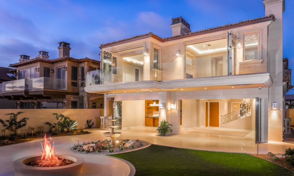$11.995 Newly Built Limestone Oceanfront Home In Encinitas, CA
