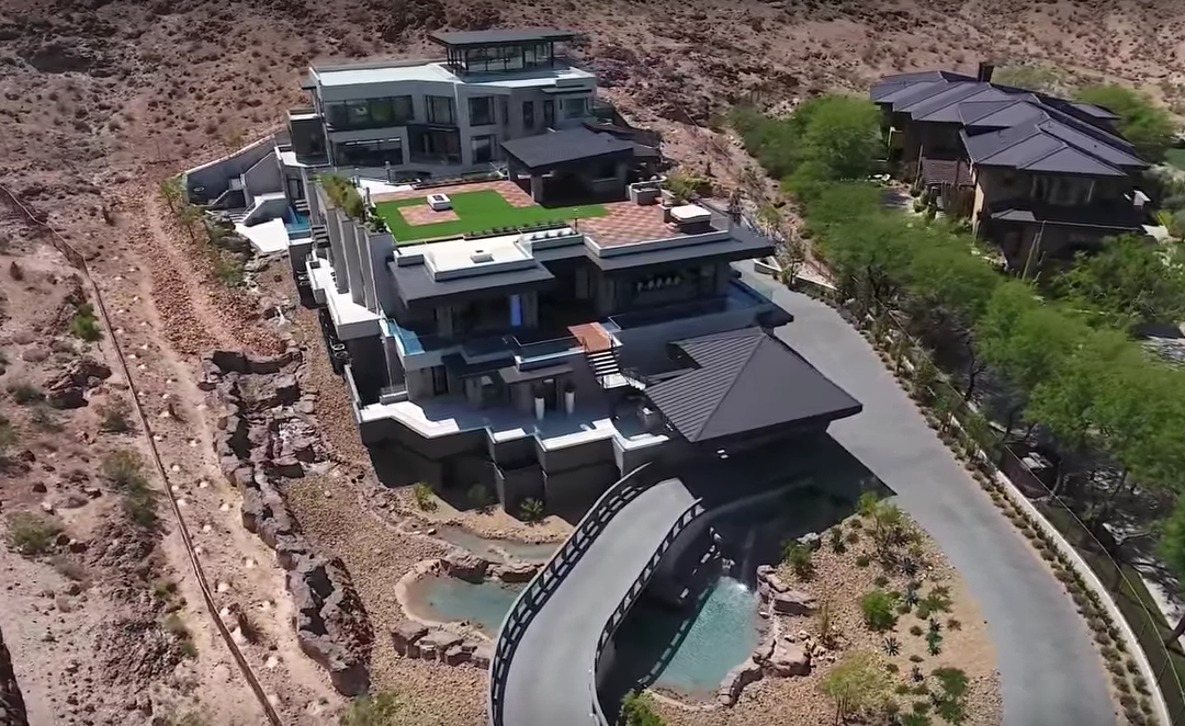 SkySide – A $30 Million Newly Built Contemporary Mega Mansion In Las Vegas, NV