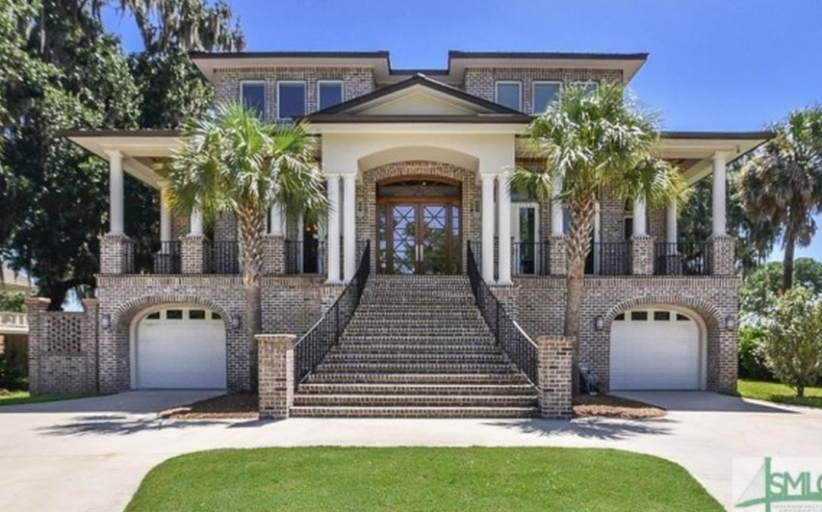 $2.15 Million Waterfront Brick Mansion In Savannah, GA