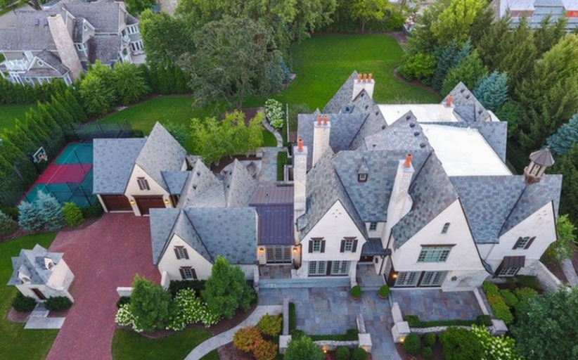 10,000 Square Foot French Country Mansion In Hinsdale, IL