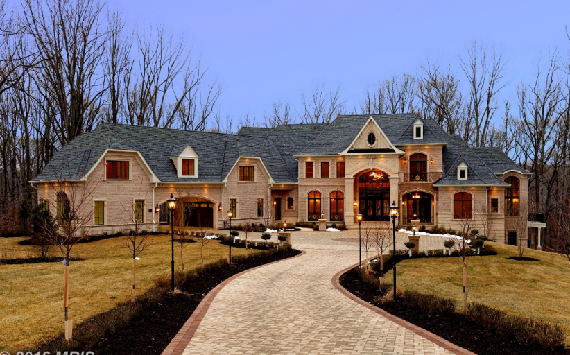 14,000 Square Foot Brick Mansion In Great Falls, VA Re-Listed