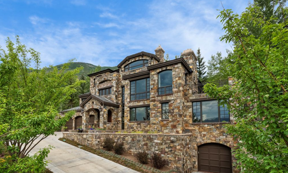 10 5 million stone home in aspen co homes of the rich for Celebrity homes in aspen