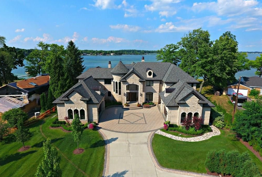 Million Lakefront Mansion Orchard Lake Homes