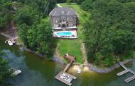 Brick & Stone Lakefront Mansion In York, SC