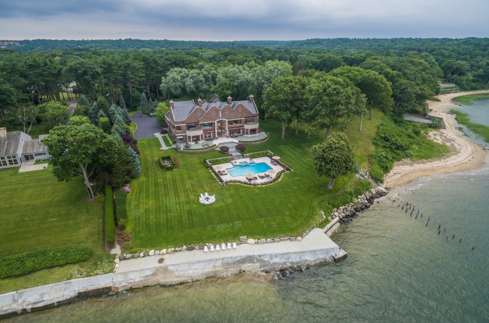 13 000 Square Foot Waterfront Brick Mansion In Lloyd