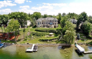 $9.75 Million Lakefront Mansion In Orchard Lake, MI