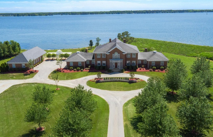 10,000 Square Foot Waterfront Brick Mansion In Easton, MD