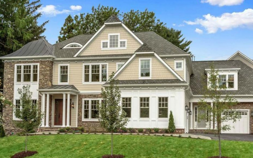 $2.695 Million Newly Built Shingle & Stone Home In McLean, VA