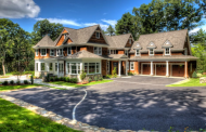 $3.475 Million Newly Built Shingle & Stone Mansion In Weston, MA