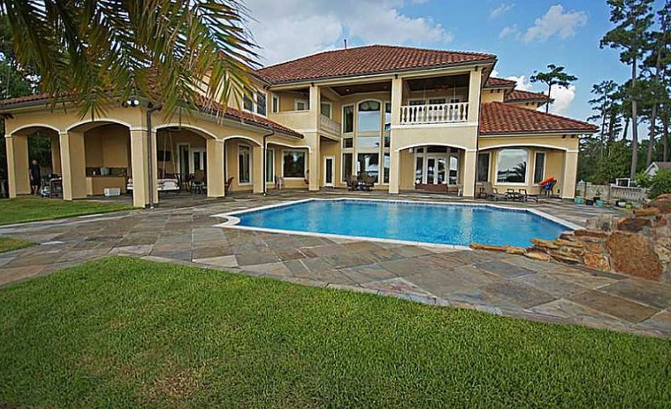 6 2 Million Mediterranean Lakefront Mansion In Lake Charles La Homes Of The Rich