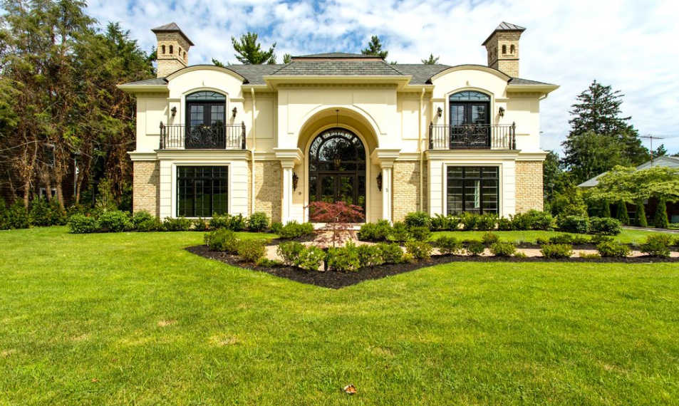 $3.85 Million Newly Built Brick & Stone Mansion In Great Neck, NY