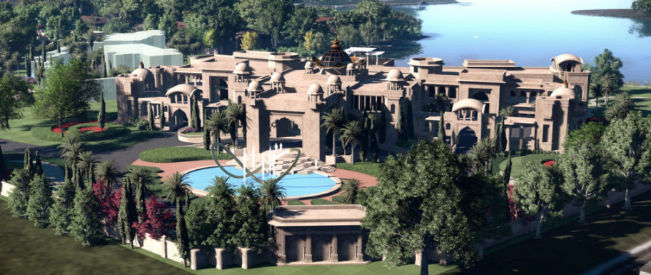 The top 5 largest homes currently under construction in for Biggest house in usa