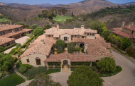 12,000 Square Foot Spanish Style Mansion In Rancho Santa Fe, CA
