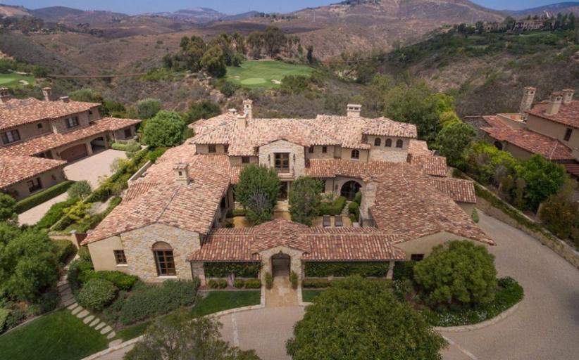 12,000 Square Foot Spanish Style Mansion In Rancho Santa Fe, CA