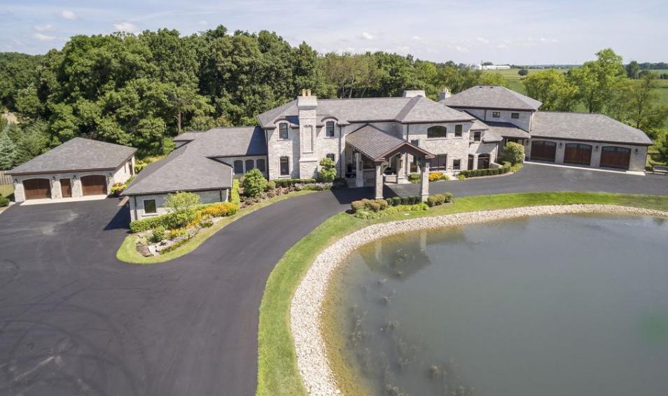 10,000 Square Foot Limestone Mansion On 20 Acres In Kenosha, WI